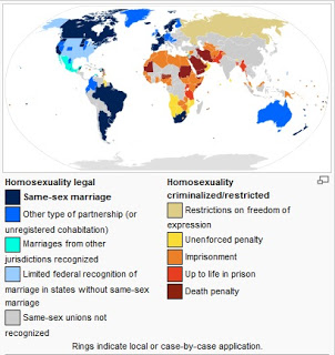 map of countries where homosexuality is criminalized