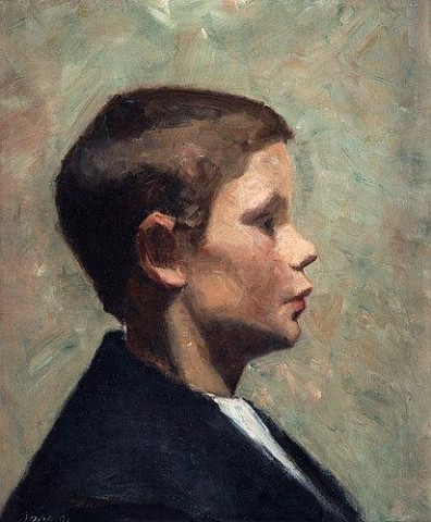 Marie_Kroyer_Young_boy_in_profile