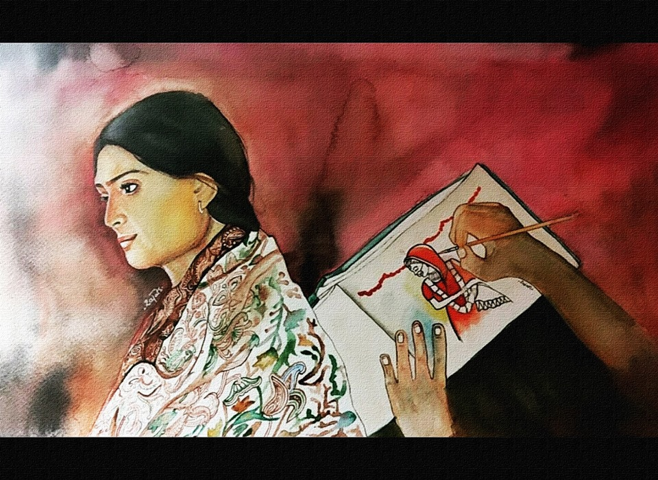 drawing of Sweety by Rajat Saini