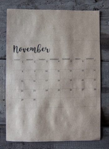 Image of November calendar